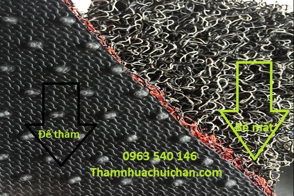 Cấu tạo tấm thảm nhựa rối dày.