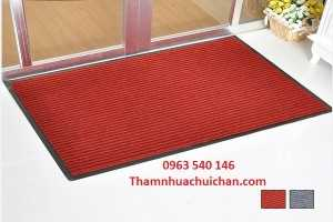 Thảm chùi chân đế cao su màu đỏ