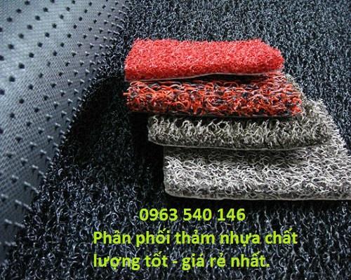 Thảm nhựa rối dày 2cm sử dụng để chùi chân hoặc lót sàn ô tô.