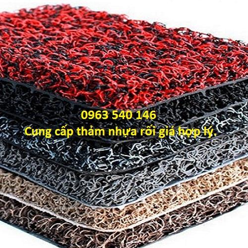 Màu sắc thảm nhựa rối dày 2m, khổ rộng 1,2m x 9m.