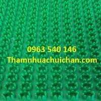 Thảm chùi chân bằng nhựa gai hoa cúc, kích thước 0,7m x 10m và 0,9m x 10m.
