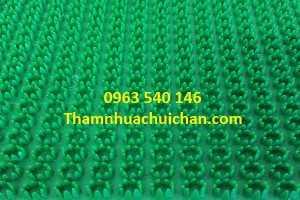 Thảm nhựa gai cúc màu xanh.