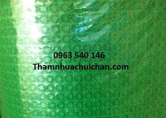 Thảm nhựa gai cúc màu xanh. Kích thước 0,7m x 10m, 0,9m x 10m