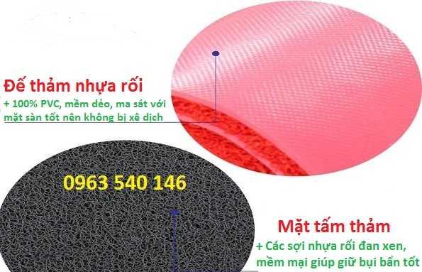 Cấu tạo tấm thảm nhựa rối