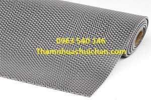 Thảm nhựa lưới màu ghi