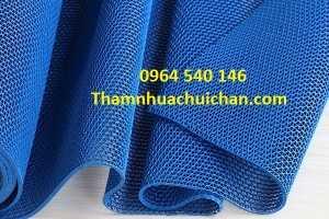 Thảm nhựa lưới màu xanh blue