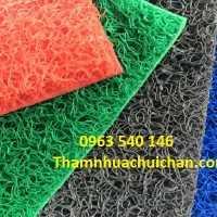 Thảm chùi chân nhựa rối kích thước 1,2m x 18m/cuộn. Có thể cắt tùy ý kích thước quý khách yêu cầu.