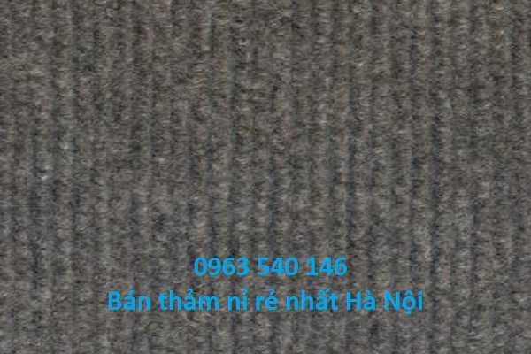 Thảm nỉ giá rẻ màu ghi kích thước 2m x 75m