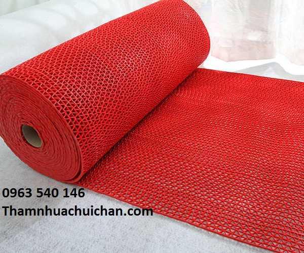 Thảm trải chống trơn nhà vệ sinh, bể bơi, phòng tắm màu đỏ