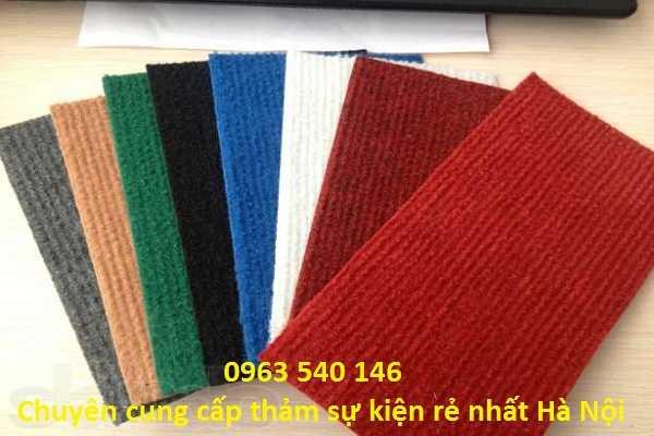 Màu sắc thảm nỉ giá rẻ, khổ rộng 2m x 75m, cắt tùy ý theo kích thước yêu cầu.