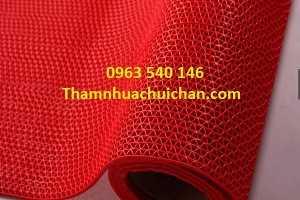 Thảm nhựa lưới màu đỏ