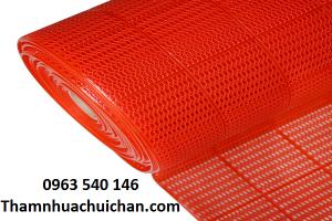 Thảm nhựa lưới tổ ong màu đỏ