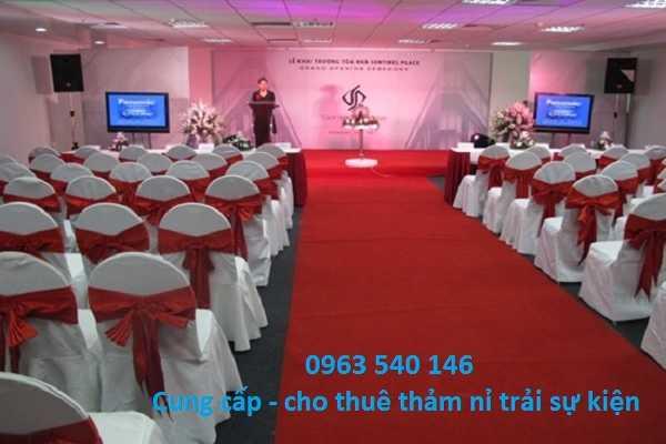 Cung cấp và cho thuê thảm nỉ trải sân khấu, sự kiện tại Hà Nội.
