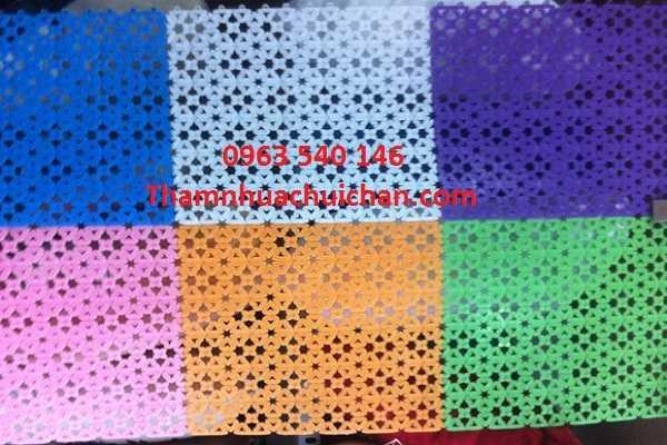 Thiết kế thảm tấm ghép chống trơn kích thước 30cm x 30cm, dày 10mm