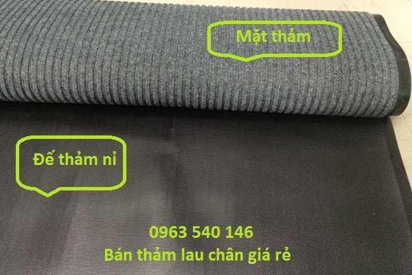 Ngoài ra chúng tôi bán các dòng thảm chùi chân đế cao xu mặt sợi nỉ , sợi len.