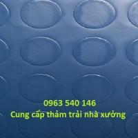 Phân phối thảm nhựa trải xưởng kích thước 2m x 25m/ cuộn, độ dày 1,2mm.