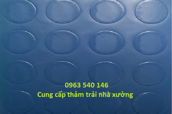 Phân phối thảm nút tròn trải xưởng kích thước 2m x 25m/ cuộn, độ dày 1,2mm.