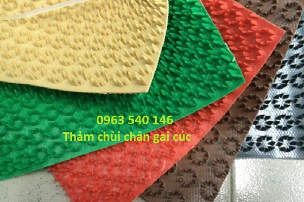 Thảm chùi chân gai hoa cúc, kích thước 0,7m x 10m và 0,9m x 10m