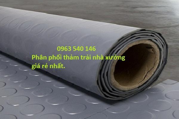 Thảm nhựa trải nhà xưởng khổ rộng 2m x 25m/cuộn, có thể cắt tùy ý kích thước yêu cầu của quý khách.
