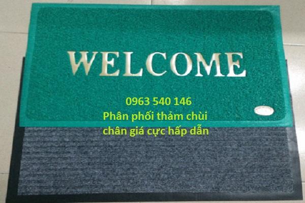 Cung cấp tấm thảm lau chân welcom nhựa rối, thảm lau chân đế cao su.
