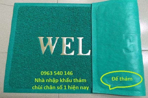 Thảm chùi chân bằng nhựa có chữ welcom đẹp và sang trọng thích hợp sử dụng cho văn phòng, căn hộ.