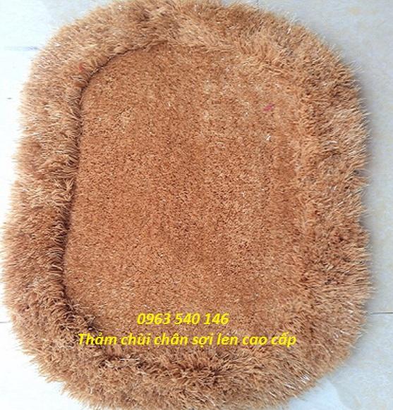 Thảm chùi chân lông xù đẹp và sang trọng.