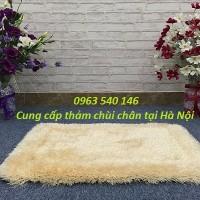 Thảm chùi chân lông xù màu trắng cao cấp
