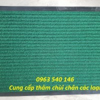 Thảm chùi chân đế cao su màu xanh với thiết kế viền cao su xung quanh đẹp và sang trọng.