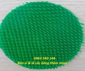 Thảm nhựa gai sầu riêng màu xanh
