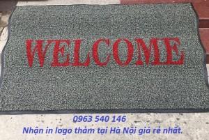Nhận in logo tên công ty, thương hiệu lên tấm thảm chùi chân.