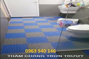 Thảm tấm ghép chống trơn nhà vệ sinh