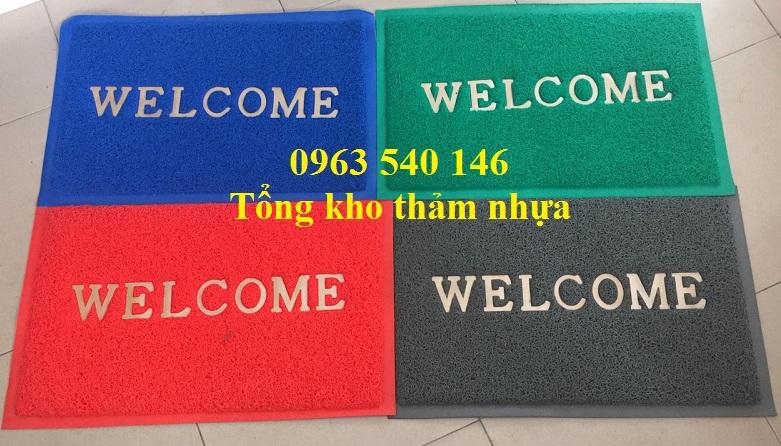Màu sắc tấm thảm lau chân nhựa welcom.