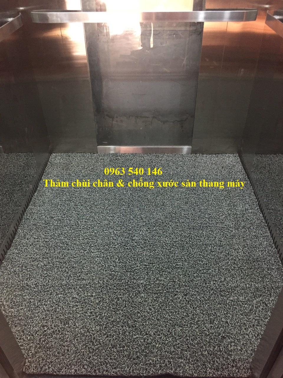 Tấm thảm đặt bên trong thang máy đẹp, sang trọng, đặc biệt bảo vệ mặt sàn thang máy.