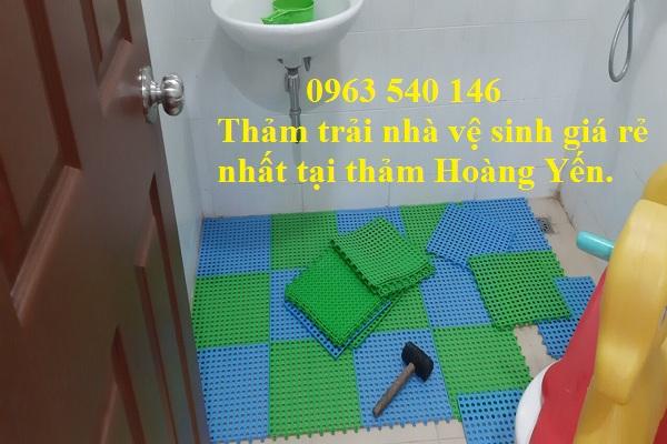 Sang trọng - không gian mới lạ, chất lượng tốt nhất khi quý khách mua thảm trải nhà vệ sinh tại Thảm Hoàng Yến.