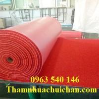Thảm nhựa rối màu đỏ giá siêu rẻ tại Hà Nội.