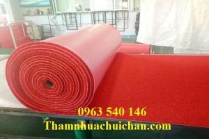 Thảm nhựa rối chùi chân màu đỏ