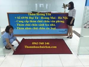 Thảm chùi chân sợi len đế cao su tại Hà Nội.