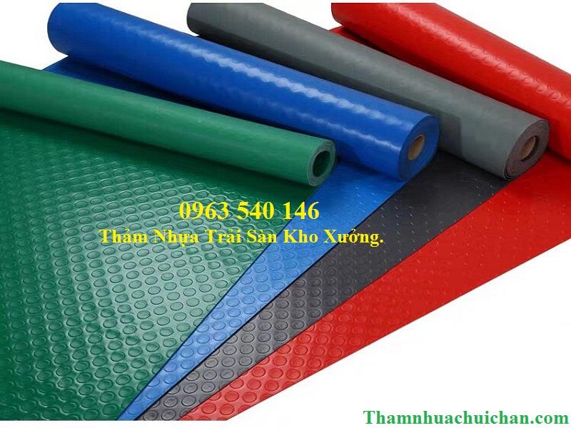 Thảm trải sàn kho xưởng bằng nhựa PVC cực bền.