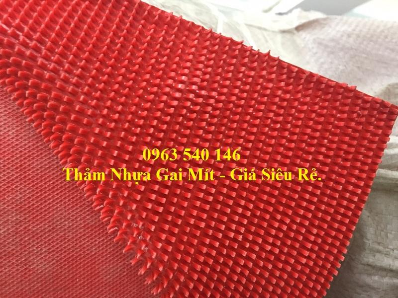 Thảm nhựa gai mít màu đỏ có thể trải bậc lên xuống, hoặc làm đường dẫn trong các sự kiện của công ty, tập đoàn.