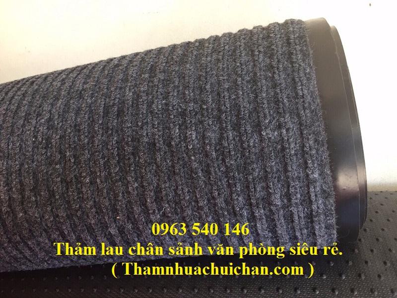 Cuộn thảm chùi chân sợi len đế cao su rất bền - trải sảnh lớn.