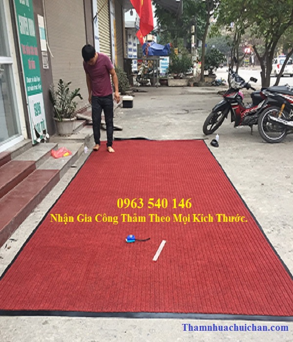 Thảm chùi chân tại sảnh tòa nhà chất lượng- giá rẻ nhất bán tai thảm Hoàng Yến.